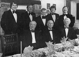 DRN partners in the 1970s, bottom row from left; Wilfred Newton, Donald Race, George Horn.